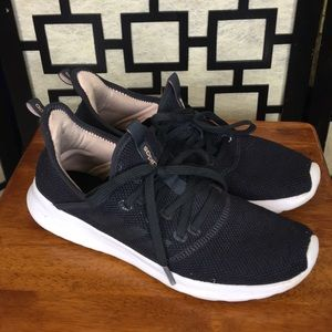 Adidas Cloudfoam Pure black and blush sneakers
